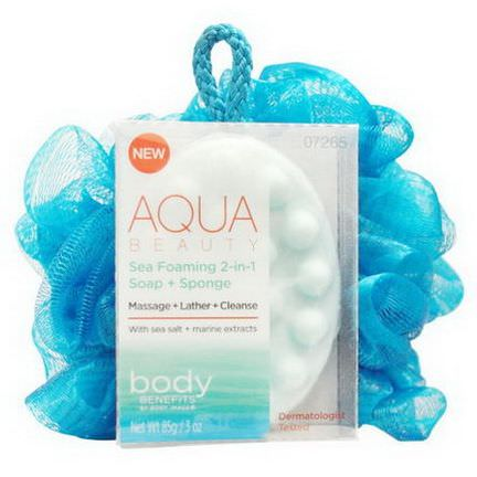Body Benefits, By Body Image, Aqua Beauty, Sea Foaming 2-in-1 85g Soap Bar 1 Sponge