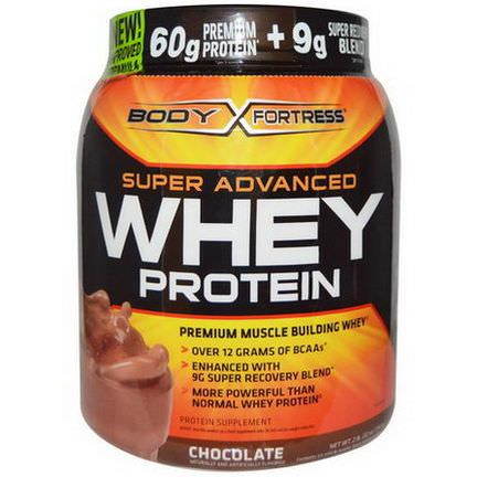 Body Fortress, Super Advanced Whey Protein, Chocolate 907g
