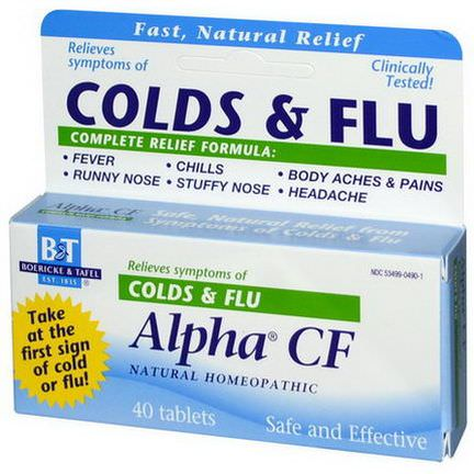 Boericke&Tafel, Alpha CF, 40 Tablets