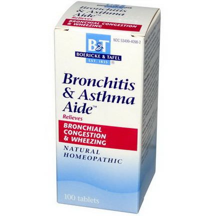 Boericke&Tafel, Bronchitis&Asthma Aide, 100 Tablets