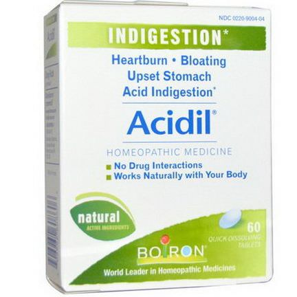 Boiron, Acidil, Indigestion, 60 Quick-Dissolving Tablets
