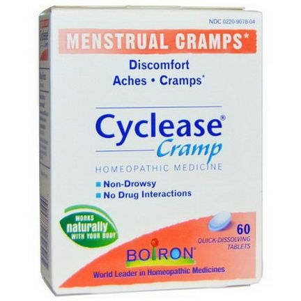 Boiron, Cyclease Cramp, Menstrual Cramps, 60 Quick-Dissolving Tablets