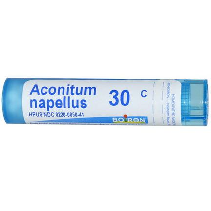 Boiron, Single Remedies, Aconitum Napellus, 30C, Approx 80 Pellets
