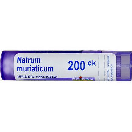 Boiron, Single Remedies, Natrum Muriaticum, 200CK, 80 Pellets