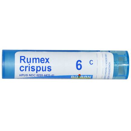 Boiron, Single Remedies, Rumex Crispus, 6C, Approx 80 Pellets