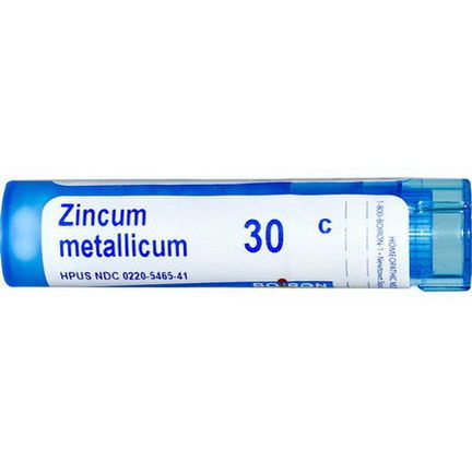 Boiron, Single Remedies, Zincum Metallicum, 30C, Approx 80 Pellets