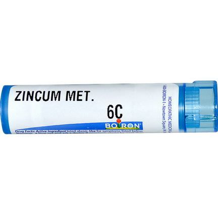 Boiron, Single Remedies, Zincum Metallicum, 6C, Approx 80 Pellets
