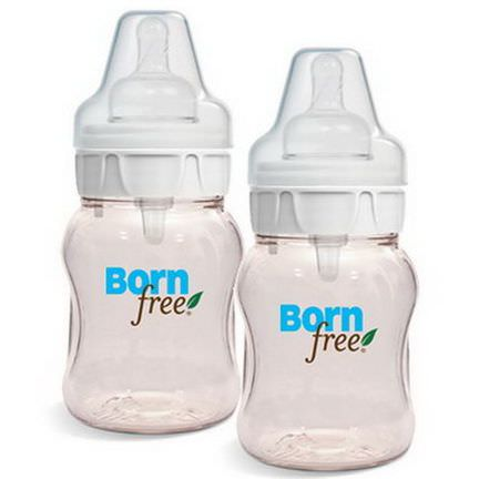 Born Free, Natural Feeding Classic Bottles, Slow Flow, 2 Pack, 5 oz Each