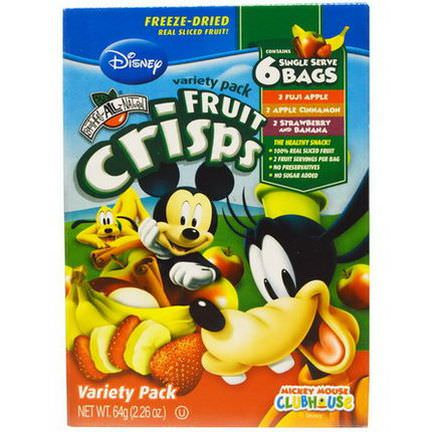 Brothers-All-Natural, Disney, Fruit-Crisps Variety Pack, 6 Single Serve Bags