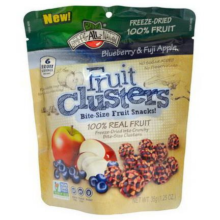 Brothers-All-Natural, Fruit Clusters, Bite-Size Fruit Snacks, Blueberrry&Fuji Apple 35g