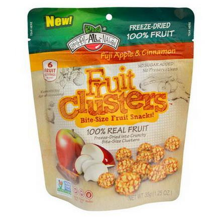 Brothers-All-Natural, Fruit Clusters, Bite-Size Fruit Snacks, Fuji Apple&Cinnamon 35g