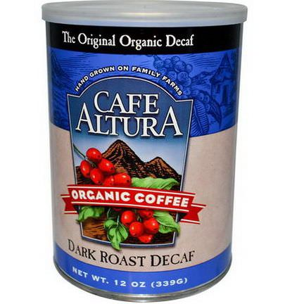 Cafe Altura, Organic Coffee, Dark Roast Decaf 339g