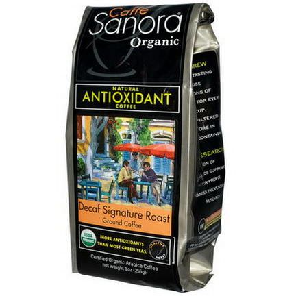 Caffe Sanora, Organic, Ground Coffee, Decaf Signature Roast 255g
