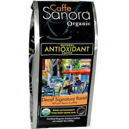 Caffe Sanora, Organic Whole Bean Coffee, Decaf Signature Roast 255g