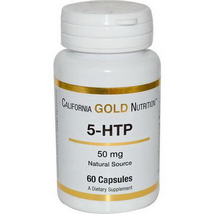 California Gold Nutrition, 5-HTP, 50mg, 60 Capsules
