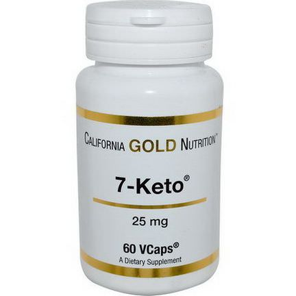 California Gold Nutrition, 7-Keto, 25mg, 60 VCaps