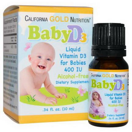 California Gold Nutrition, Baby D3, 400 IU 10ml