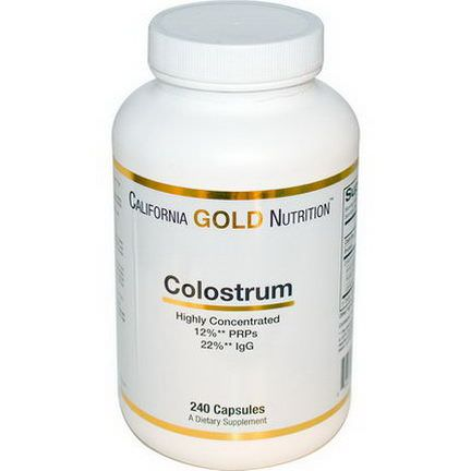 California Gold Nutrition, Concentrated Colostrum, 240 Capsules