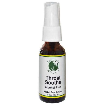 California Xtracts, Throat Soothe, Alcohol Free 30ml