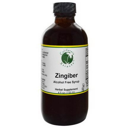 California Xtracts, Zingiber, Alcohol Free Syrup 118ml