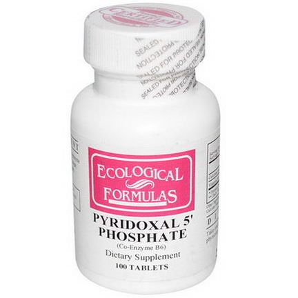 Cardiovascular Research Ltd. Pyridoxal 5'Phosphate, 100 Tablets