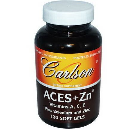 Carlson Labs, Aces Zn, 120 Soft Gels