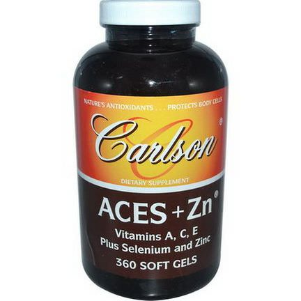 Carlson Labs, Aces Zn, 360 Softgels