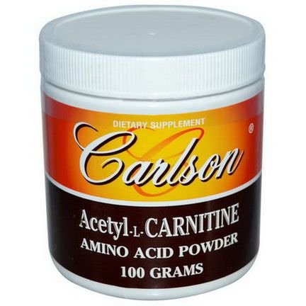 Carlson Labs, Acetyl-L-Carnitine, Amino Acid Powder, 100g