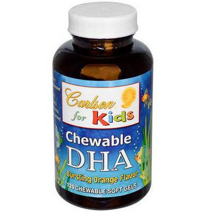 Carlson Labs, Chewable DHA, For Kids, Bursting Orange Flavor, 120 Chewable Soft Gels