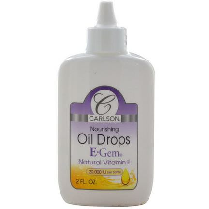 Carlson Labs, E Gem Oil Drops, 2 fl oz