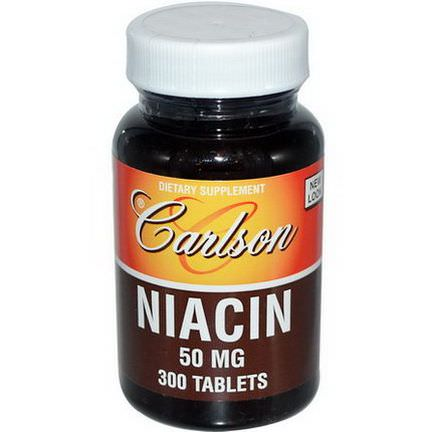Carlson Labs, Niacin, 50mg, 300 Tablets
