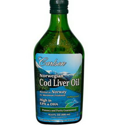 Carlson Labs, Norwegian Cod Liver Oil, Unflavored 500ml