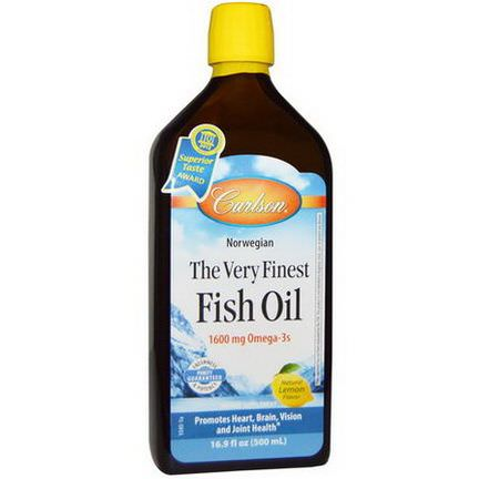 Carlson Labs, The Very Finest Fish Oil, Natural Lemon Flavor 500ml