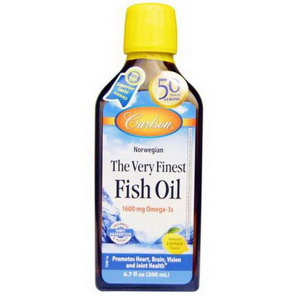 Carlson Labs, The Very Finest Fish Oil, Norwegian, Lemon 200ml
