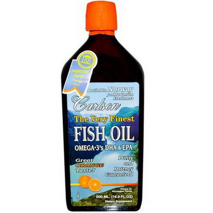 Carlson Labs, The Very Finest Fish Oil, Orange 500ml