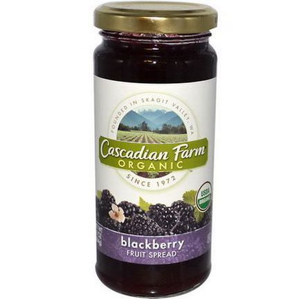 Cascadian Farm, Organic, Fruit Spread, Blackberry 284g
