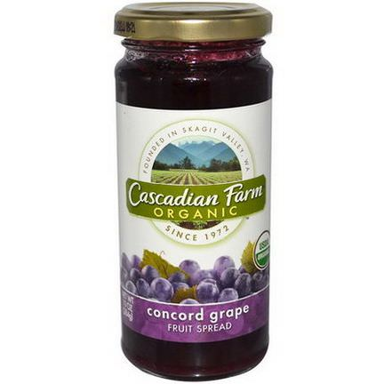 Cascadian Farm, Organic, Fruit Spread, Concord Grape 284g