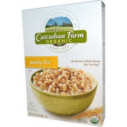 Cascadian Farm, Purely O's, Organic Whole Grain Oat and Barley Cereal 243g