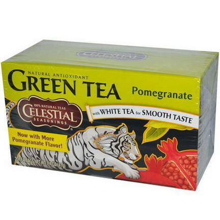 Celestial Seasonings, Green Tea, Pomegranate, 20 Tea Bags 41g