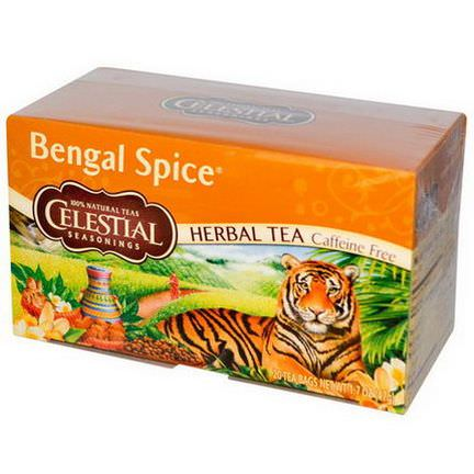 Celestial Seasonings, Herbal Tea, Bengal Spice, Caffeine Free, 20 Tea Bags 47g
