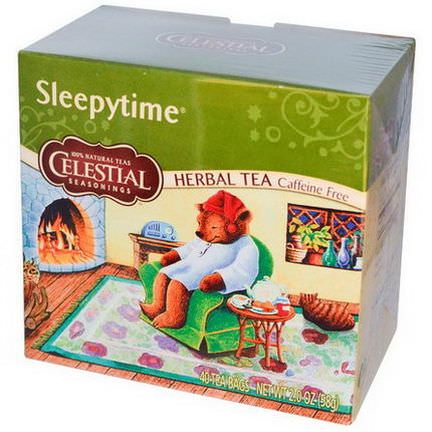 Celestial Seasonings, Herbal Tea, Caffeine Free, Sleepytime, 40 Tea Bags 58g