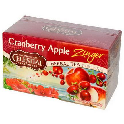 Celestial Seasonings, Herbal Tea, Cranberry Apple Zinger, Caffeine Free, 20 Tea Bags 42g