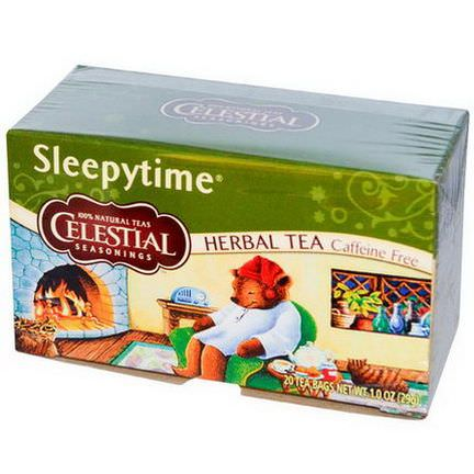 Celestial Seasonings, Herbal Tea, Sleepytime, Caffeine Free, 20 Tea Bags 29g