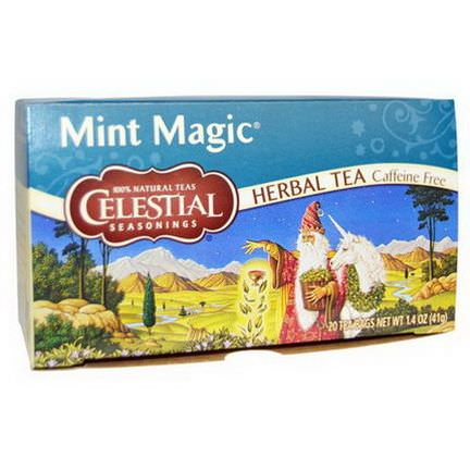 Celestial Seasonings, Mint Magic Herbal Teas, Caffeine Free, 20 Tea Bags 41g
