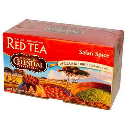 Celestial Seasonings, Red Tea, Safari Spice, Caffeine Free, 20 Tea Bags 43g