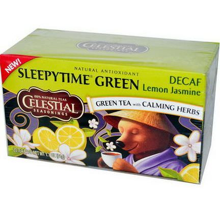Celestial Seasonings, Sleepytime Green Lemon Jasmine, Decaf, 20 Tea Bags 31g