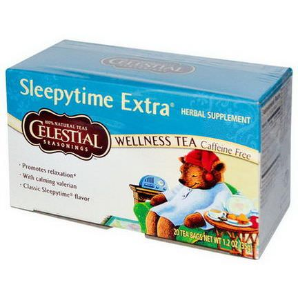 Celestial Seasonings, Wellness Tea, Sleepytime Extra, Caffeine Free, 20 Tea Bags 35g