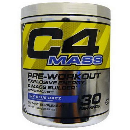 Cellucor, C4 Mass, Pre-Workout Explosive Energy&Mass Builder, Icy Blue Razz 35.97 oz