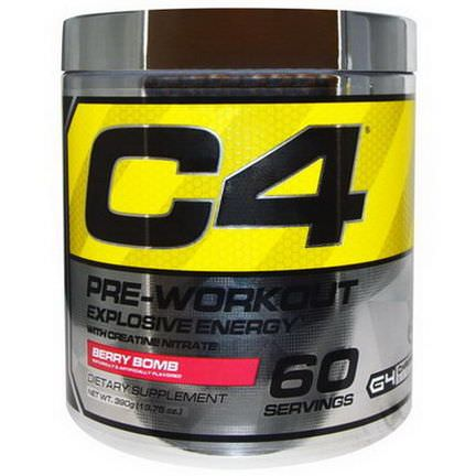 Cellucor, C4, Pre-Workout, Explosive Energy, Berry Bomb 390g