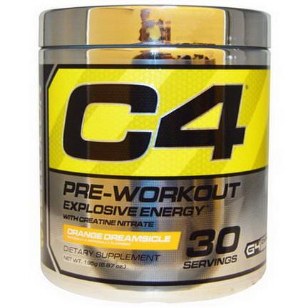 Cellucor, C4, Pre-Workout, Explosive Energy, Orange Dreamsicle 195g